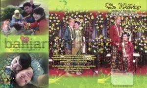 Desain Undangan Pernikahan Cetak Tulip Hijau UO-SC005