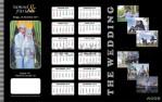 Desain Undangan Pernikahan Cetak Lily Hitam UO-SC009
