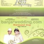 Desain Undangan Pernikahan Cetak Anggrek Hitam UO-SC007
