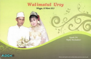 Desain Undangan Pernikahan Green Sakura UC-SC004