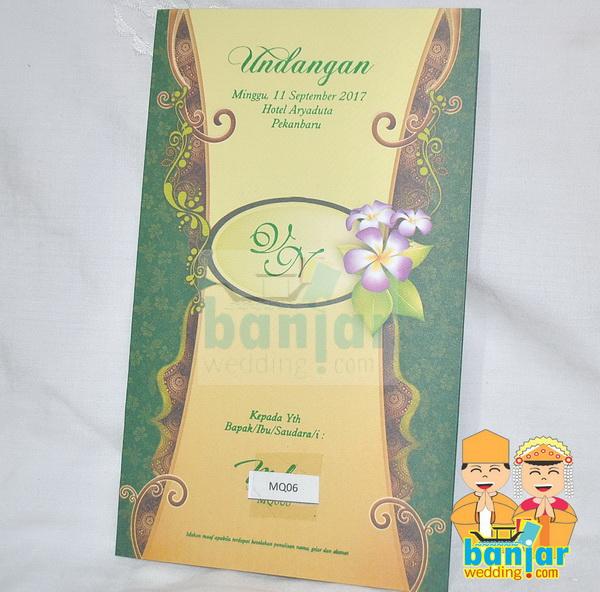 Undangan Pernikahan Murah UB-MQ06 - Banjar Wedding ...