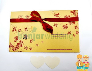 Undangan Pernikahan Hard Cover Sakura Emas EHSK-08E