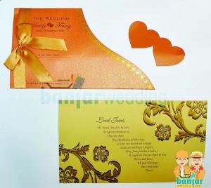 Undangan Pernikahan Elegan Double Flower EDF-008