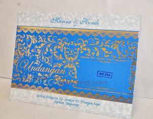 Bikin Undangan Perkawinan Biru MZ4