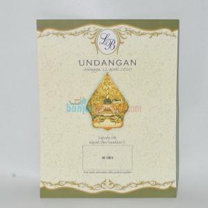 Cetak Undangan Pernikahan Wayang Klasik EB-W1803