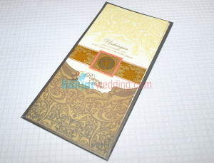 Undangan Semi Hard Cover Coklat Gold Mantap PC-23