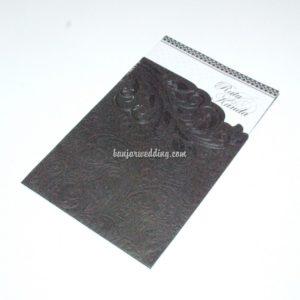 Undangan Semi Amplop Black Edition MZ38